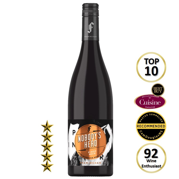 Framingham Nobodys Hero Pinot Noir 2019